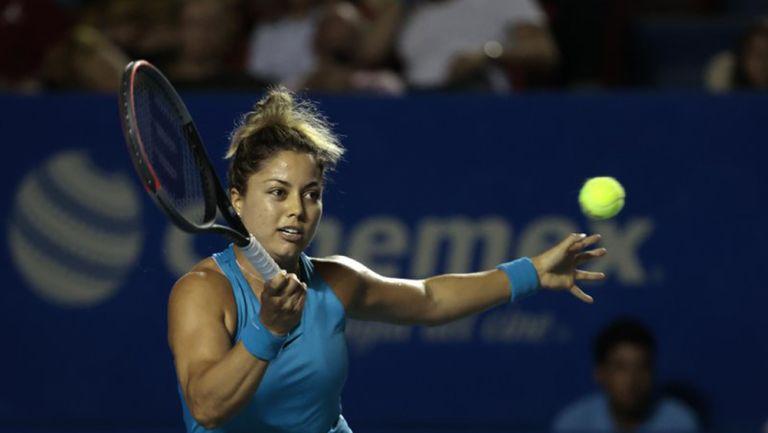 Renata Zarazúa, durante de uno de sus juegos