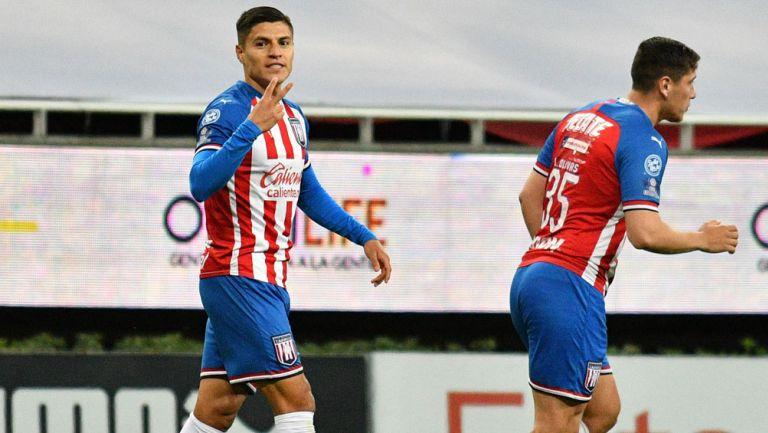 Cisneros, tras marcar un gol con el Tapatío