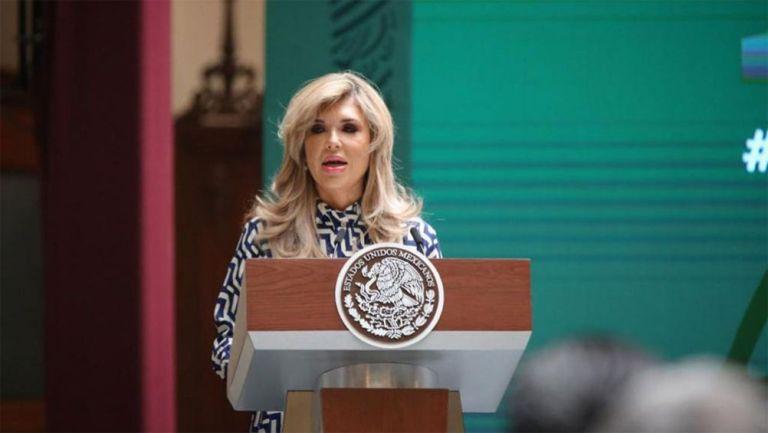 Claudia Pavlovich, gobernadora de Sonora, en un evento