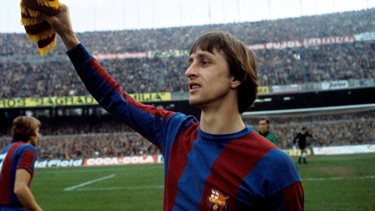 Johan Cruyff en su etapa con Barcelona