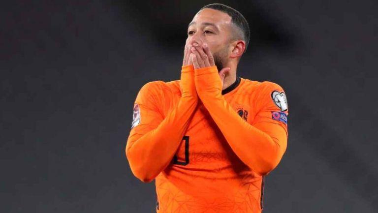 Memphis Depay en lamento con Holanda