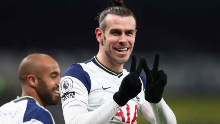 Gareth Bale, delantero del Tottenham en acción