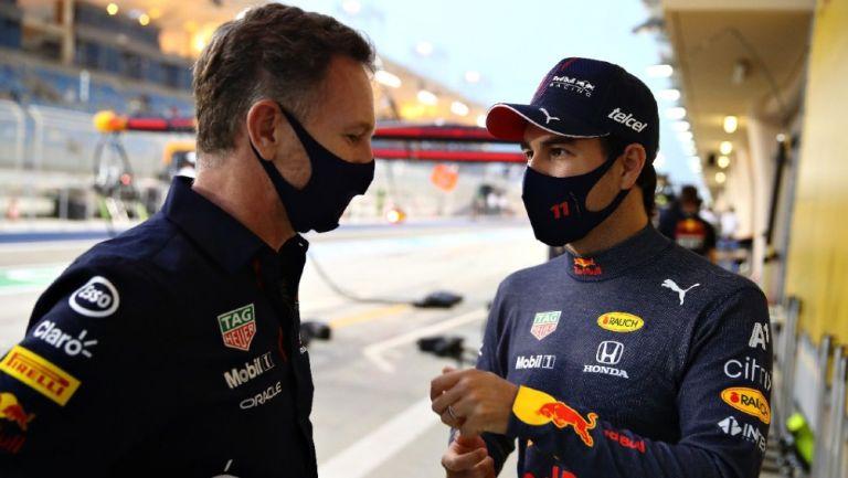 Sergio 'Checo' Pérez en práctica para el Gran Premio de Baréin con la escudería de Red Bull