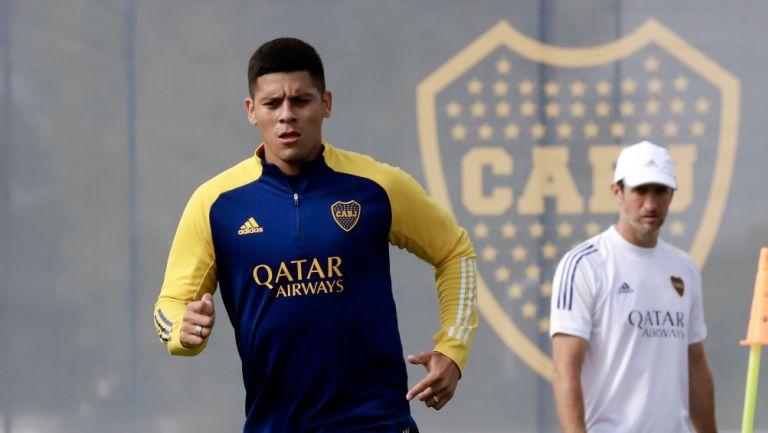 Marcos Rojo durante entrenamiento de Boca Juniors
