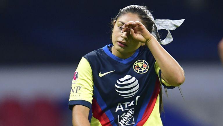 Jana Gutiérrez, se lamenta tras descalabro ante Chivas