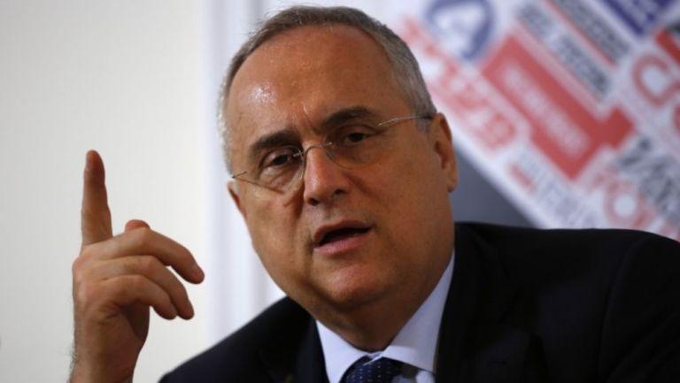 Claudio Lotito, presidente de la Lazio, fue suspendido
