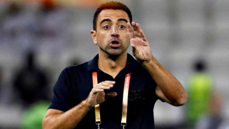 Xavi Hernández en un juego del Al-Sadd