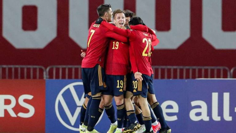 España en festejo de gol