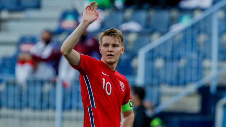 Martin Odegaard como capitán de la Selección Noruega