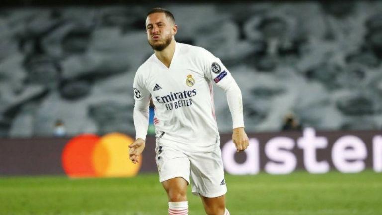 Eden Hazard durante un partido con el Real Madrid
