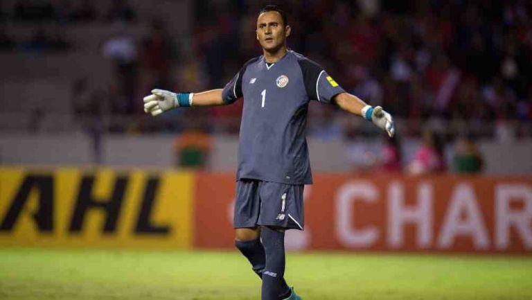 Keylor Navas en partido con Costa Rica
