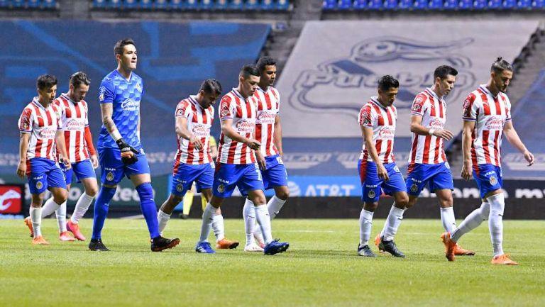 Chivas después de un partido de la Liga MX