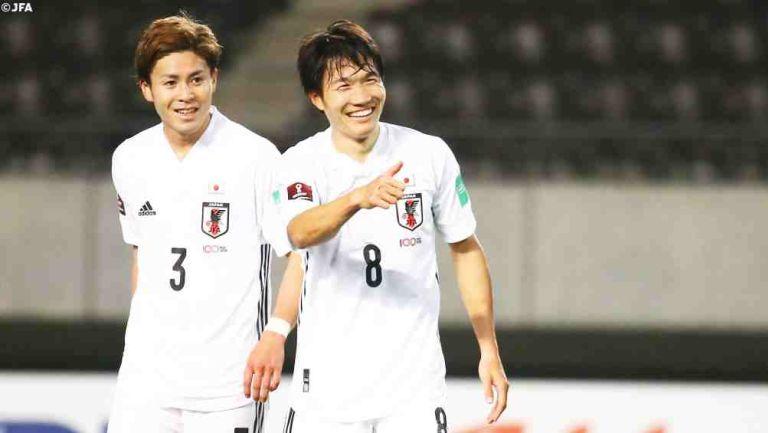 Jugador de Japón en festejo