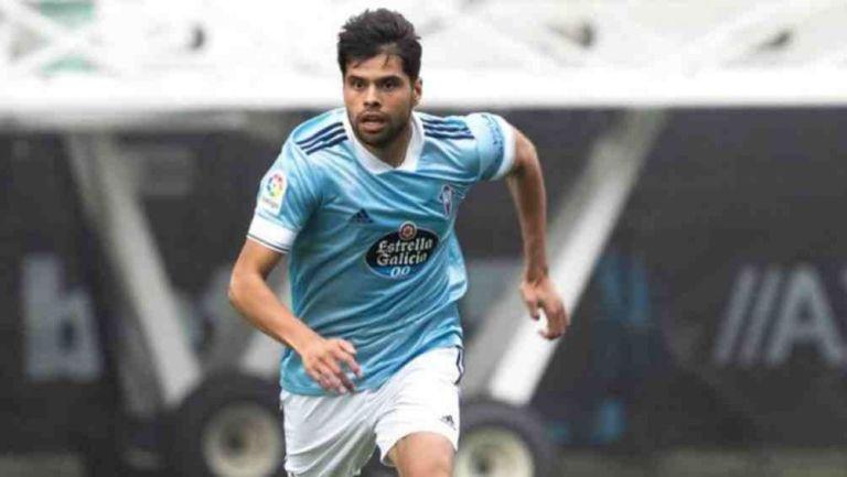 Néstor Araujo, en un partido con Celta de Vigo