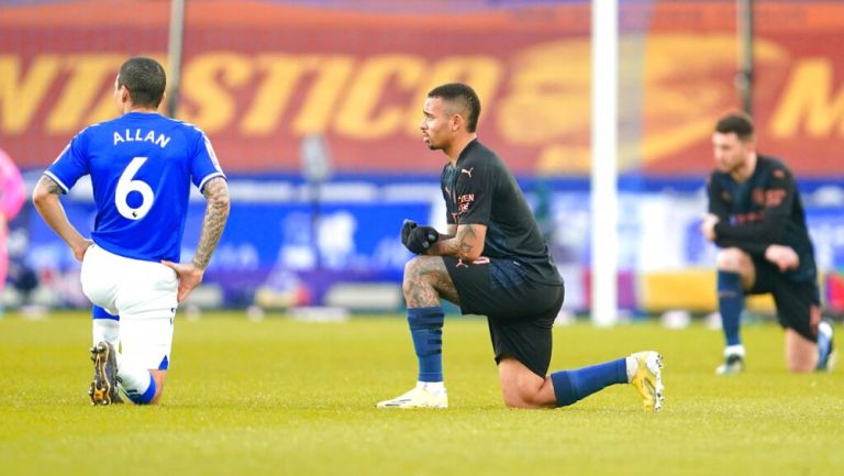 Gabriel Jesús durante un partido con el Manchester City