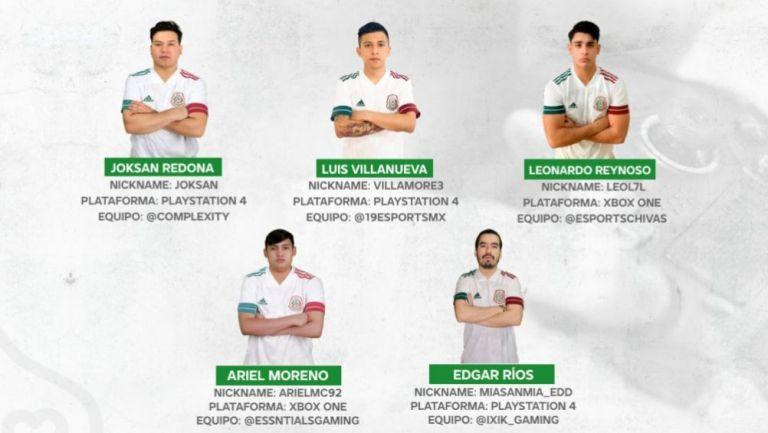Convocados por la Selección Mexicana de FIFA 21