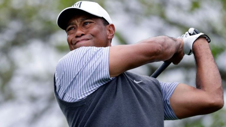 Tiger Woods en un torneo de golf