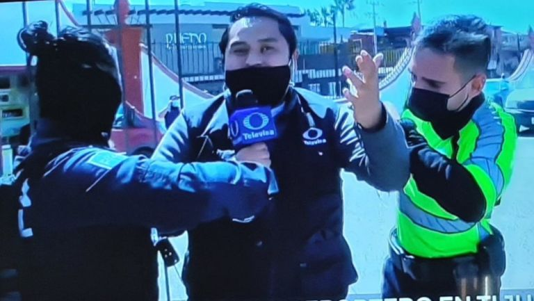Reportero fue detenido mientras realizaba un enlace en vivo