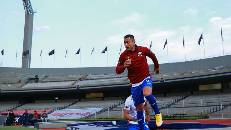 El Cata Domínguez previo a un partido