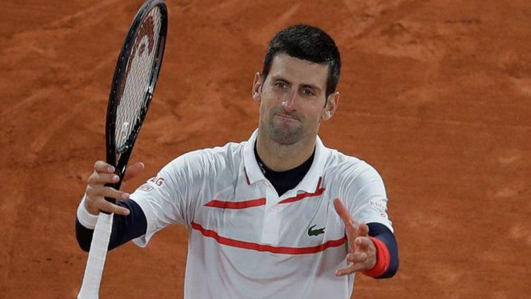Djokovic, en un juego de Roland Garros