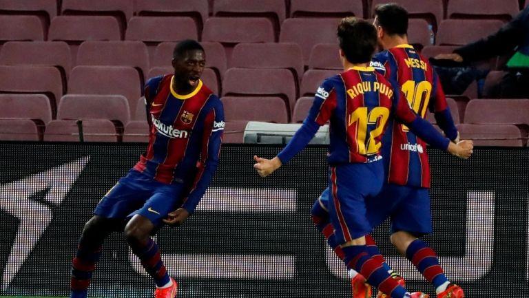 Barcelona: Ousmane Dembélé dio la victoria sobre el Valladolid al 90'