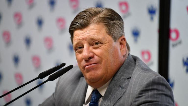Herrera en una conferencia de prensa