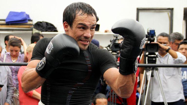 Juan Manuel Márquez durante un entrenamiento