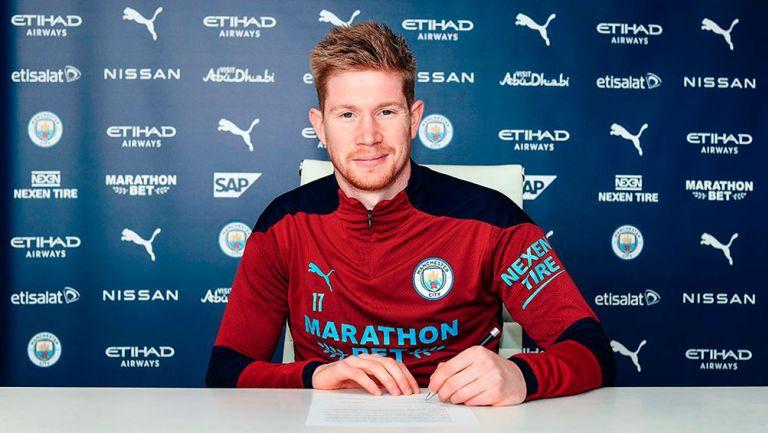 Manchester City: Kevin De Bruyne renovó hasta 2025 con el club