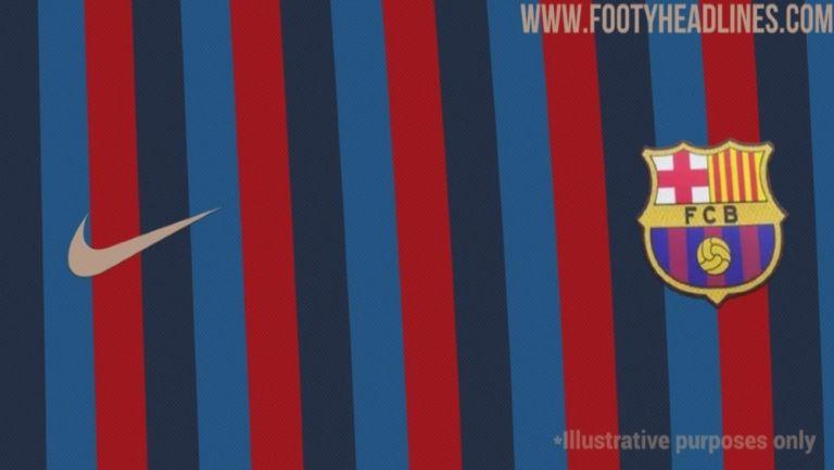 Supuesta playera para la siguiente temporada del Barcelona