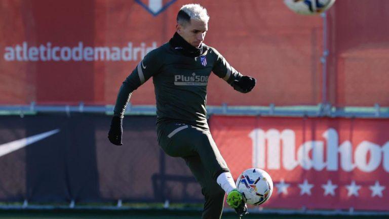 Lucas Torreira durante una sesión con el Atlético