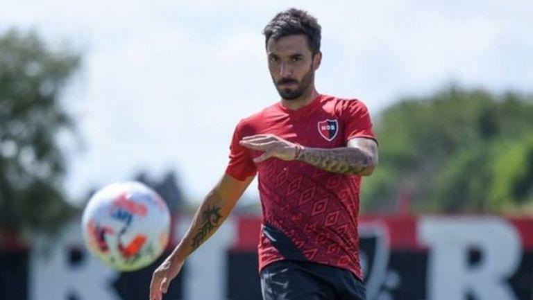 Ignacio Scocco durante un entrenamiento con Newell's