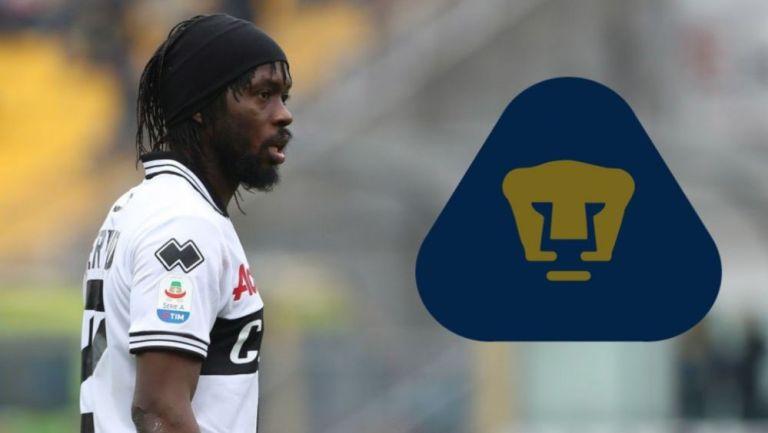 Gervinho en acción con Parma en Serie A