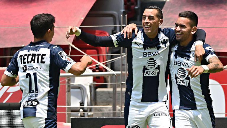 Rayados, en festejo de gol
