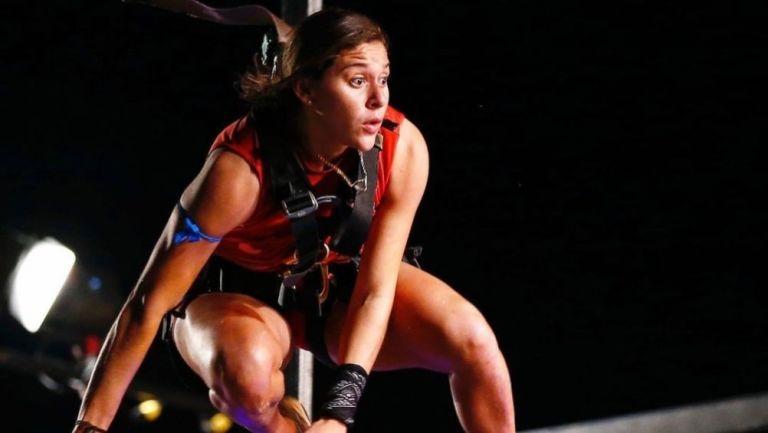 Norma Palafox durante una competencia del Exatlón