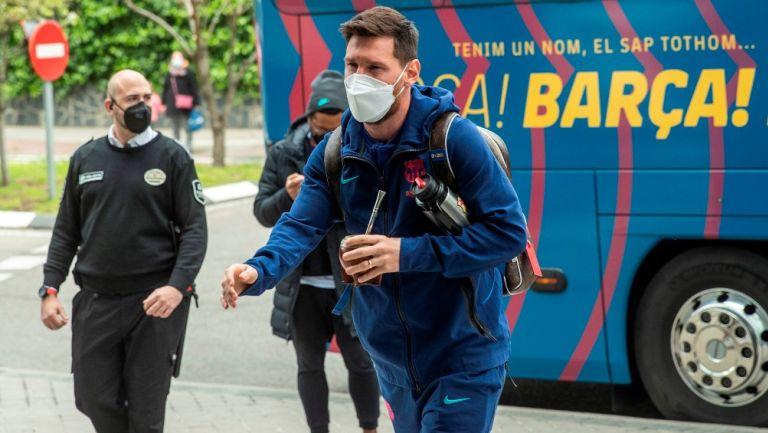 Messi llega a concentración previo al clásico