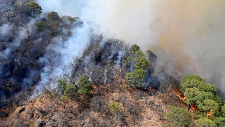 Incendio en Tepoztlán