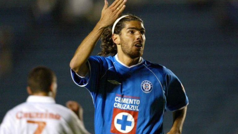 Loco Abreu como jugador de Cruz Azul