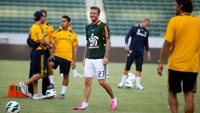 Beckham en su paso por el Galaxy