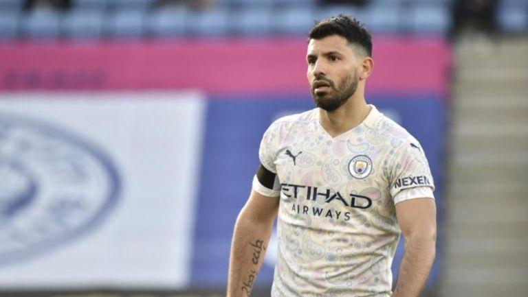 Sergio Agüero en un partido del Manchester City