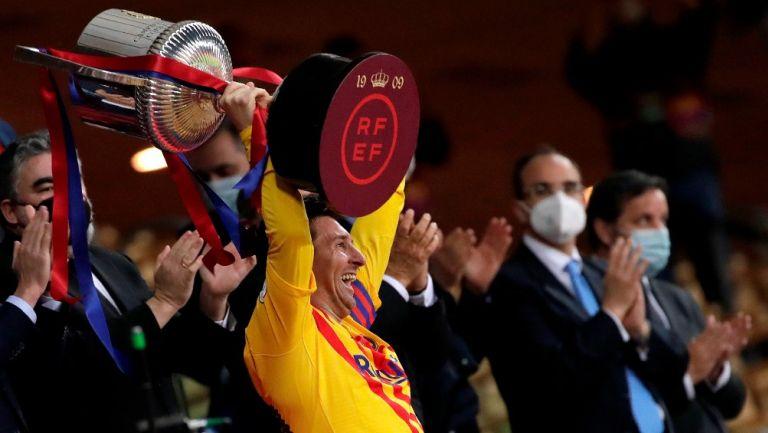 Barcelona: Campeón de la Copa del Rey al vencer al Athletic de Bilbao con doblete de Lionel Messi