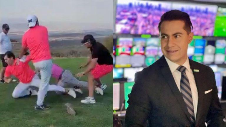 Leo Riaño narró pelea en campo de Golf