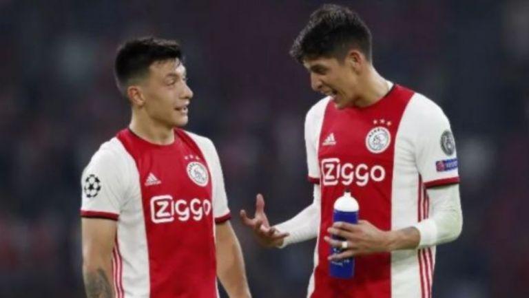 Edson Álvarez y Lisandro Martínez en acción con el Ajax