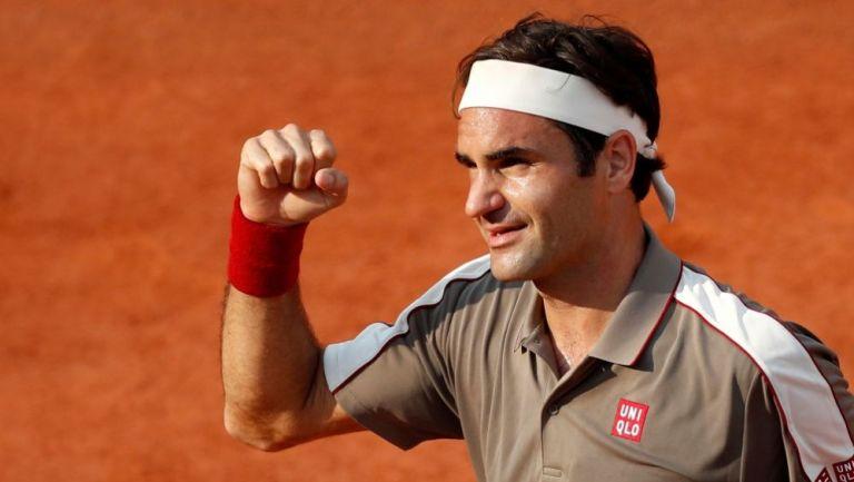 Roger Federer en acción
