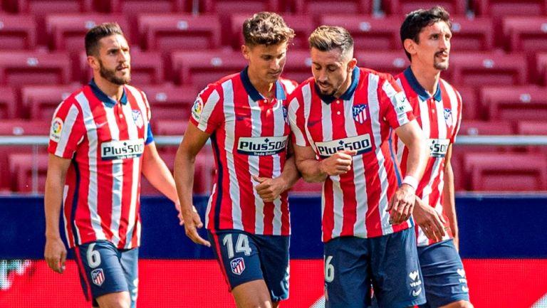 Héctor Herrera: Asistencia del mexicano en goleada del Atlético de Madrid al Eibar