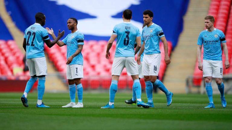 City en festejo de gol