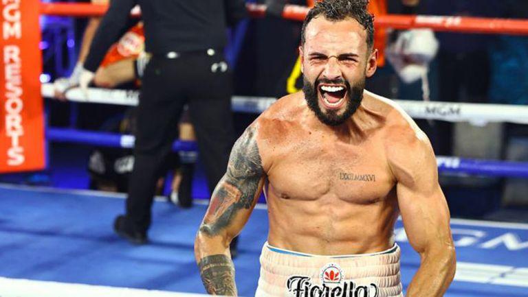 'Pitufo' Díaz tras un combate