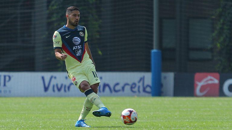 Bruno Valdez en un partido con la Sub 20 de América