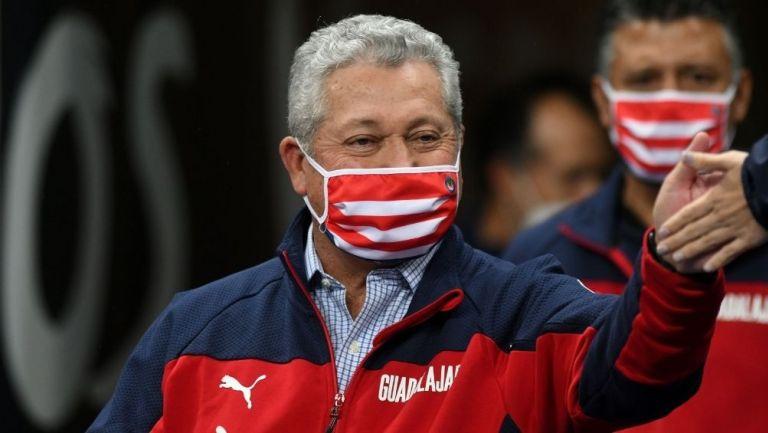 Vucetich en el partido vs Rayados