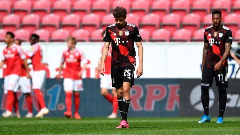 Thomas Müller tras un gol del Mainz