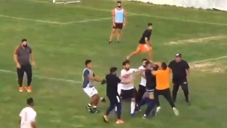 Intercambio de golpes tras juego del Berazategui y San Martín de Burzaco